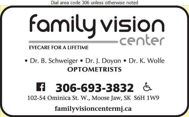 Family Vision Center (Dr B Schweiger) - Optometrists Digital Ad