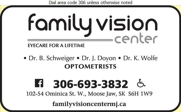 Family Vision Center (Dr K Wolfe) - Optometrists Digital Ad