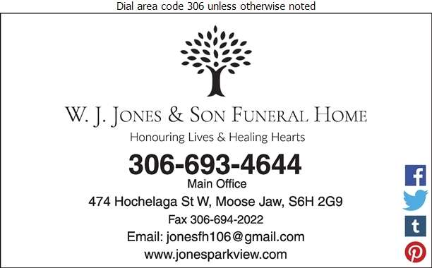 Jones - Parkview Funeral Services - Funeral Homes & Planning Digital Ad