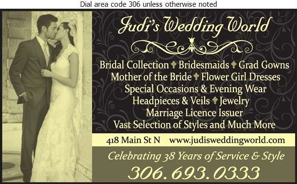 Judi's Wedding World - Bridal Shops Digital Ad