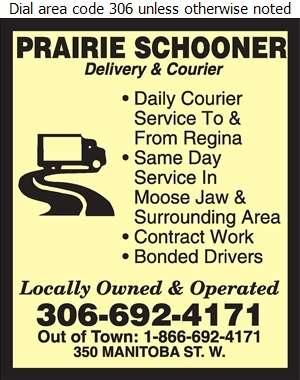 Prairie Schooner Delivery - Courier Service Digital Ad