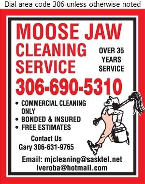 Moose Jaw Cleaning Service - Janitor Service Digital Ad