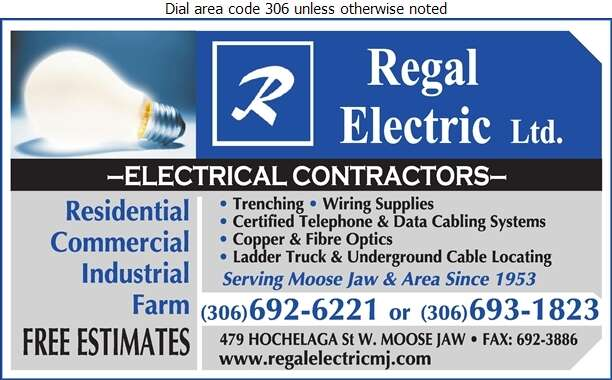 Regal Electric Ltd - Electric Contractors Digital Ad