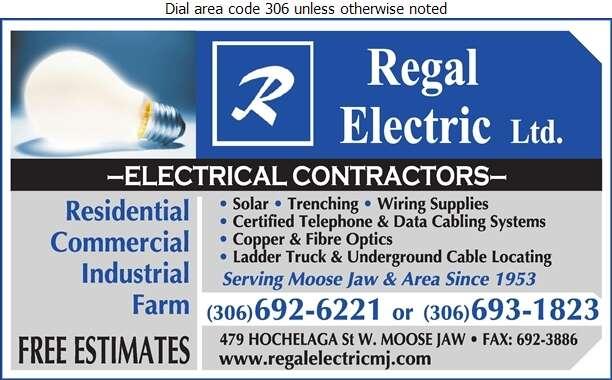 Regal Electric Ltd - Electric Contractors Digital Ad