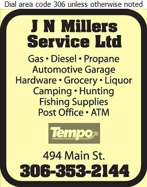 J N Millers Service Ltd - Service Stations Digital Ad