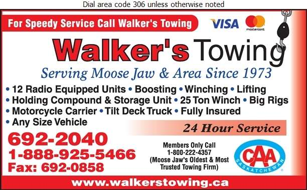 Walker's Towing Service - Towing & Boosting Service Digital Ad