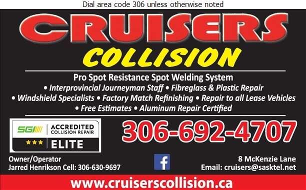 Cruisers Collision & Custom - Auto Body Repairing Digital Ad
