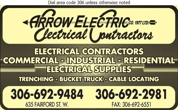 Arrow Electric Co (1977) Limited - Electric Contractors Digital Ad