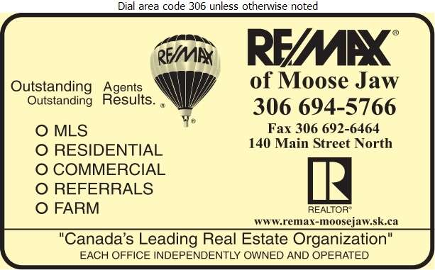 RE/MAX of Moose Jaw - Real Estate Digital Ad