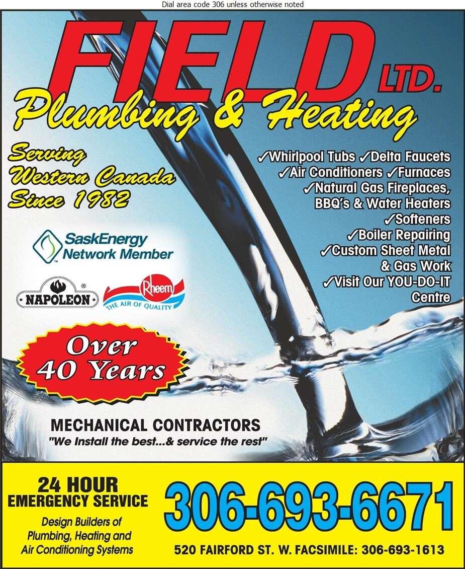 Field Plumbing & Heating Ltd - Plumbing Contractors Digital Ad