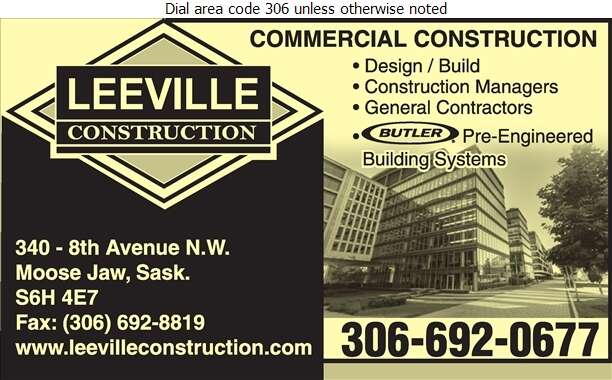 Leeville Construction Ltd - Contractors General Digital Ad