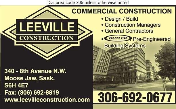 Leeville Construction Ltd - Contractors General Digital Ad