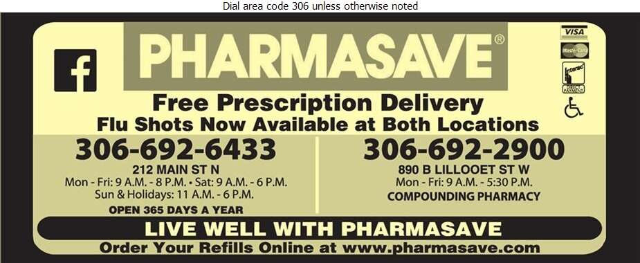 Pharmasave Drugs (Fax) - Pharmacies Digital Ad