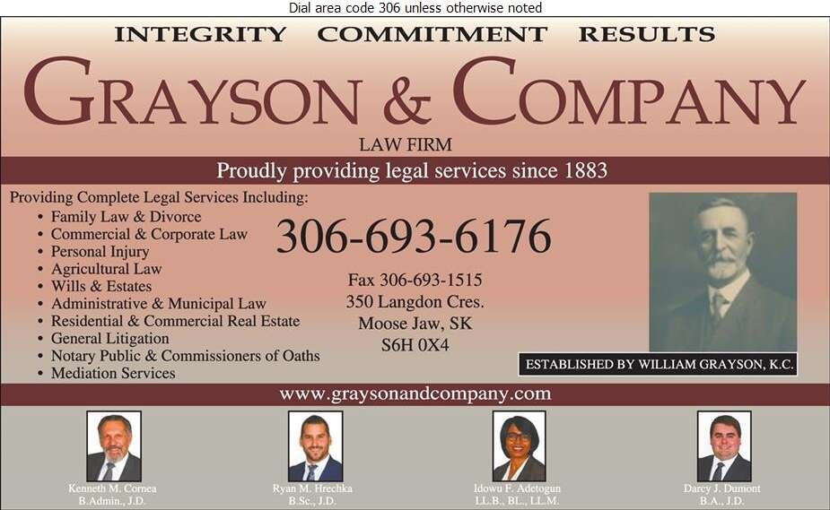 Grayson & Company (Roger L Arendt) - Lawyers Digital Ad