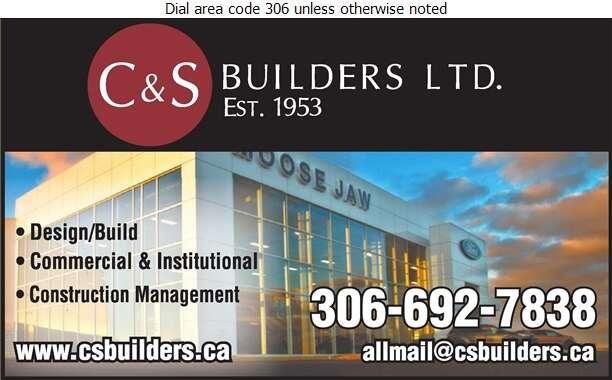 C & S Builders Ltd - Contractors General Digital Ad