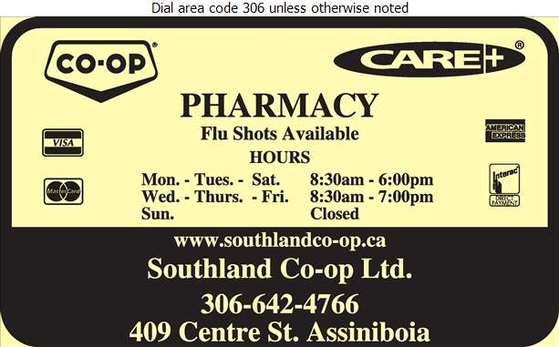 Southland Co-op Ltd (Gravelbourg Fax) - Pharmacies Digital Ad
