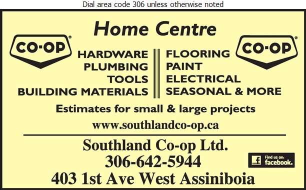 Southland Co-op Ltd (Gravelbourg Fax) - Building Materials Digital Ad