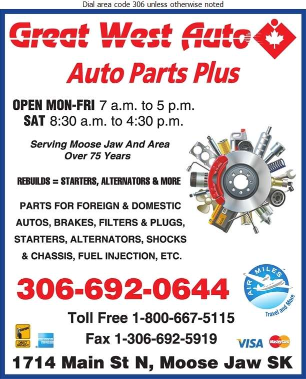 Great West Auto & Agro Supply Ltd (Body Shop Supplies) - Auto Parts & Supplies Retail Digital Ad