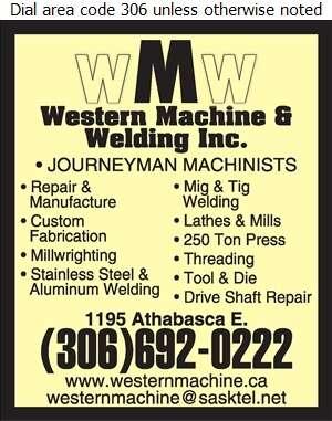 Western Machine & Welding Inc - Machine Shops Digital Ad