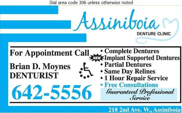 Assiniboia Denture Clinic - Denturists Digital Ad