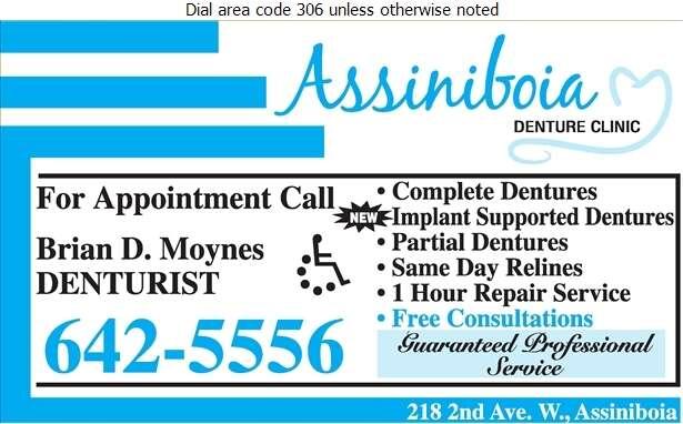 Assiniboia Denture Clinic - Denturists Digital Ad