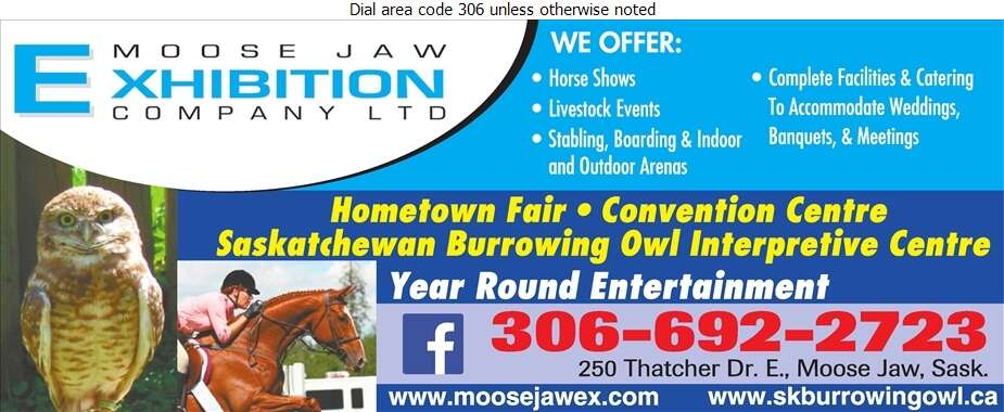 Moose Jaw Exhibition Co Ltd - Halls & Auditoriums Digital Ad