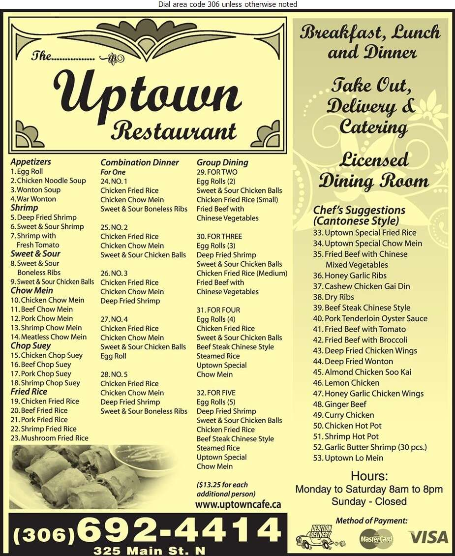 Uptown Cafe - Restaurants Digital Ad
