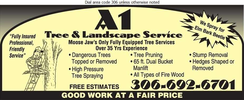 A A A-1 Tree & Landscaping Service - Tree Service & Stump Removal Digital Ad