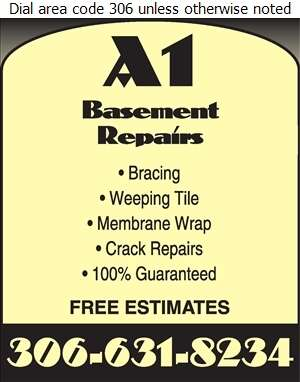 A-1 Basement Repairs - Basement Contractors Digital Ad