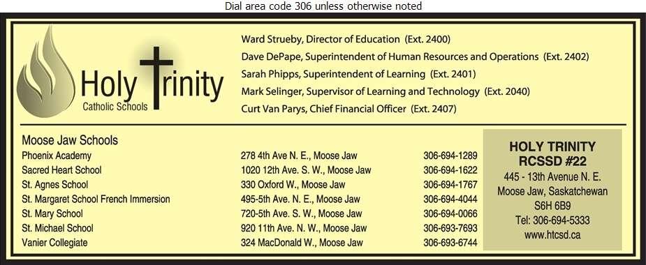Holy Trinity Roman Catholic Separate School Division No 22 - Schools & Colleges Digital Ad