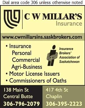 C W Millar's Insurance - Motor License Issuers Digital Ad