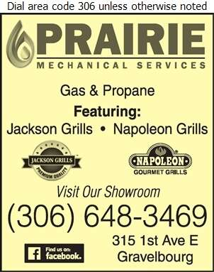 Prairie Mechanical Services Inc - Barbecue Equipment & Supplies Digital Ad
