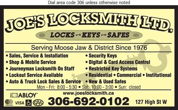 Joe's Locksmith Ltd - Locksmiths Digital Ad