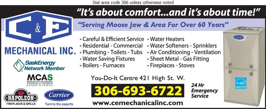 C & E Mechanical Inc - Plumbing Contractors Digital Ad