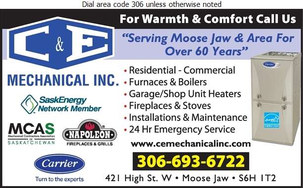C & E Mechanical Inc - Heating Contractors Digital Ad