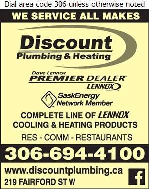 Discount Plumbing & Heating - Air Conditioning Contractors Digital Ad