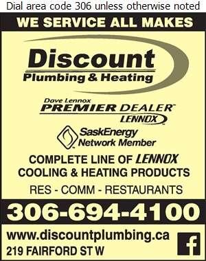 Discount Plumbing & Heating - Air Conditioning Contractors Digital Ad