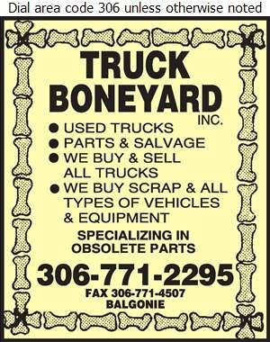 Truck Boneyard Inc - Truck Equipment & Parts Digital Ad