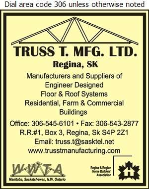 Truss T Mfg Ltd - Building Materials Digital Ad