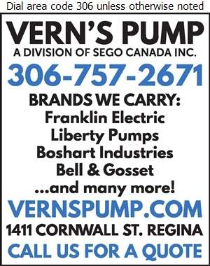 Vern's Pump House Ltd - Pumps Digital Ad