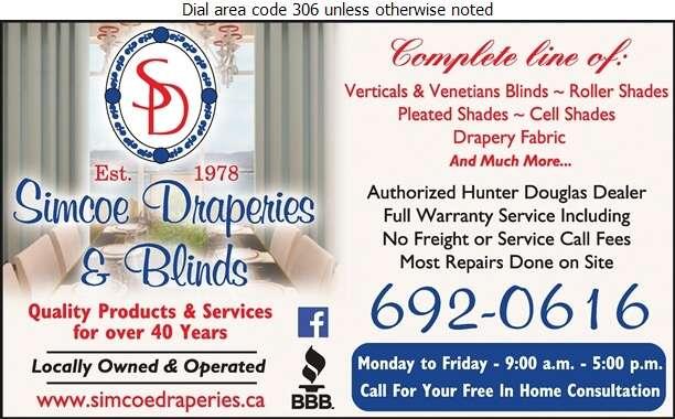 Simcoe Draperies - Blinds Retail Digital Ad
