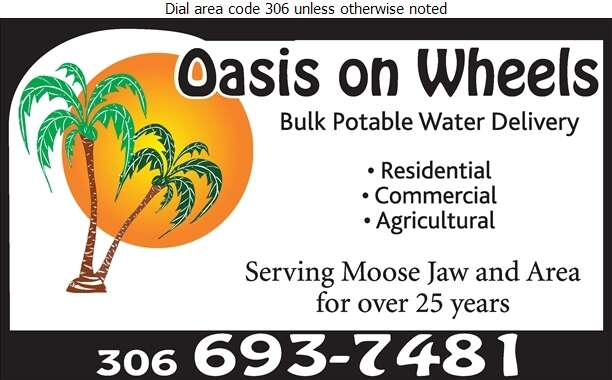 Oasis On Wheels - Water Hauling Service Digital Ad