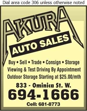 Akura Auto Body - Auto Dealers Used Cars Digital Ad