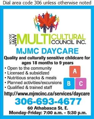 Moose Jaw Multicultural Council Daycare - Day Care Centres & Nurseries Digital Ad
