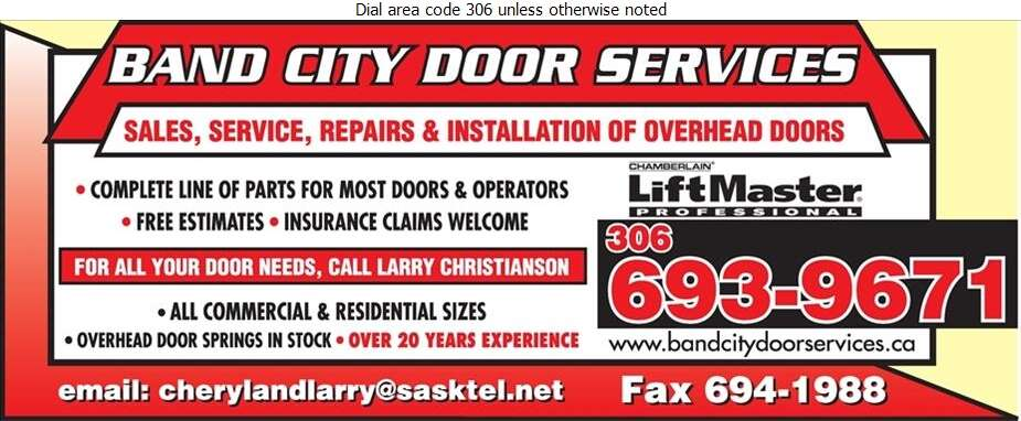 Band City Door Services - Doors Overhead Digital Ad
