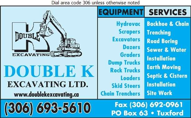 Double K Excavating Ltd (Admin Office) - Excavating Contractors Digital Ad