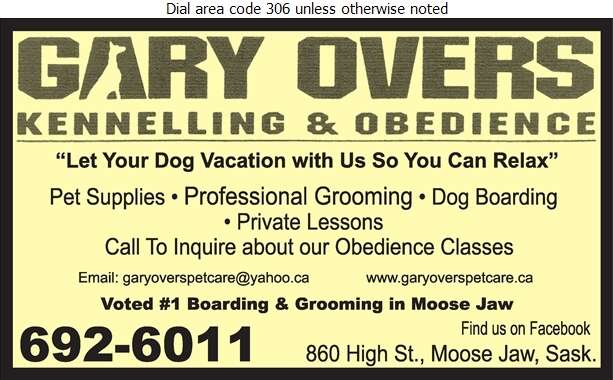 Overs Gary Kennelling & Obedience - Dog Training Digital Ad