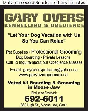 Overs Gary Kennelling & Obedience - Kennels Digital Ad