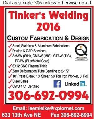 Tinker's Welding 2016 - Welding Digital Ad