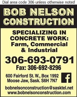 Bob Nelson Construction - Concrete Contractors Digital Ad